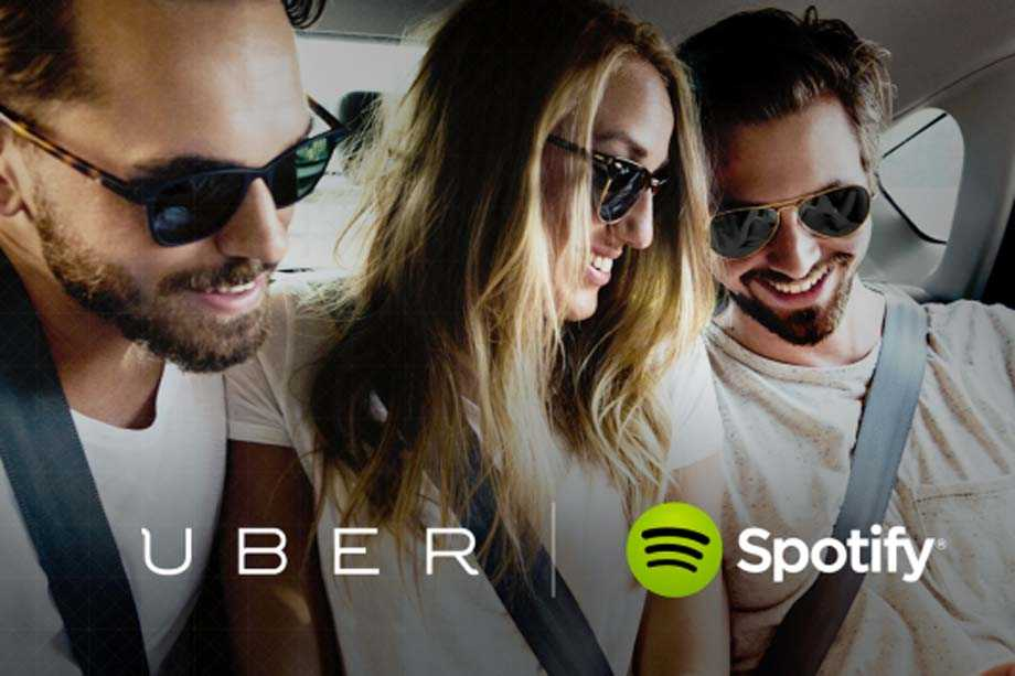 Uber and Spotify co-branding example